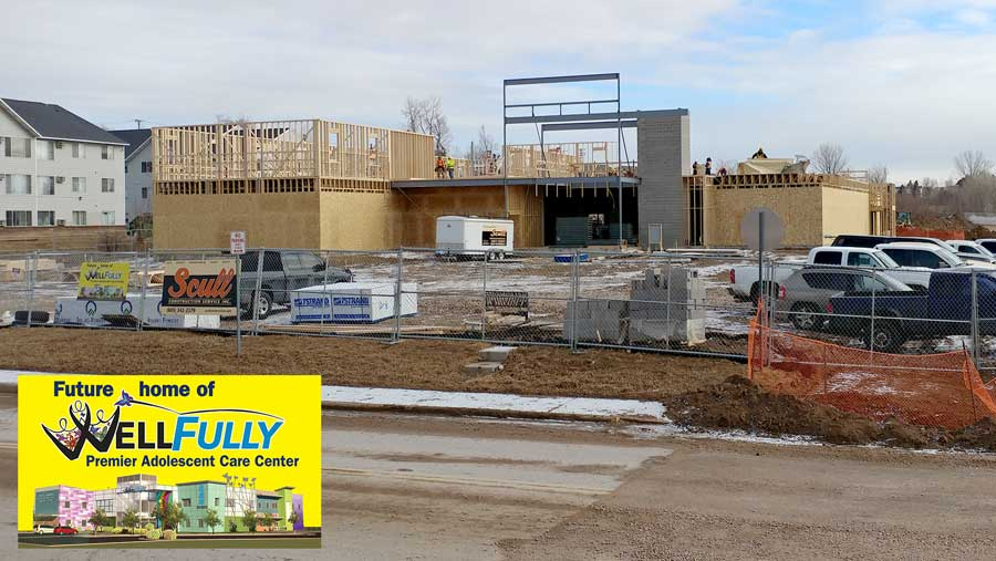 January 29 - Premier Adolescent Care Center hits new heights as the walls begin going up on the second floor