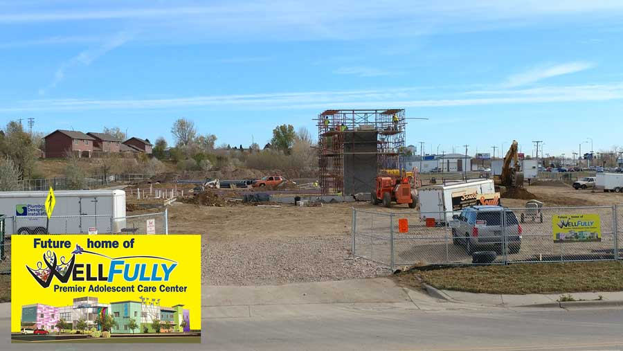 October 31 - In-ground plumbing and elevator structure takes shape