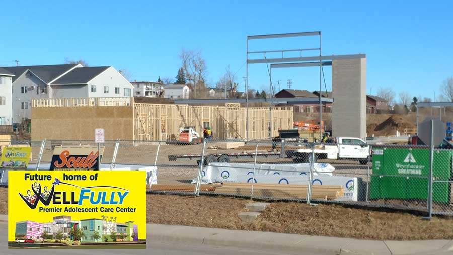 December 11 - Framing continues on the first floor